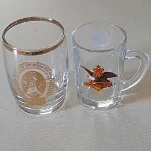 Two Small Brand Name Glass